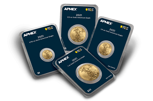 APMEX MintDirect<sup>®</sup> Premier with PCGS FirstStrike<sup>®</sup> Gold Eagles