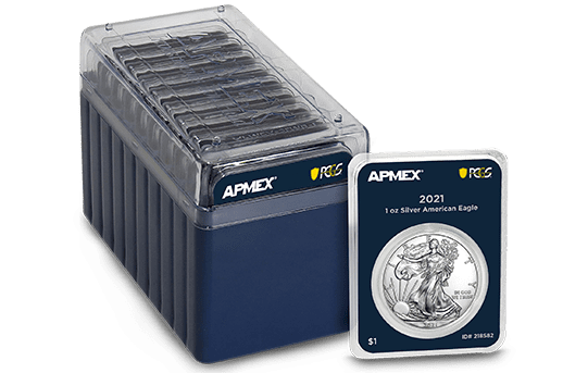10 2021 MintDirect® Premier with PCGS FirstStrike® 1 oz Silver Eagles