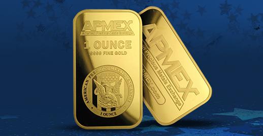 1 oz APMEX-branded Gold bar