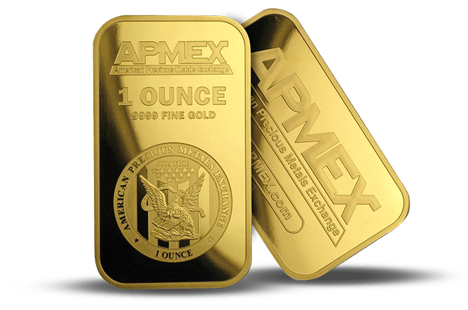 20th Anniversary Gold Bar Giveaway - 1 oz APMEX-Branded Gold Bar in TEP