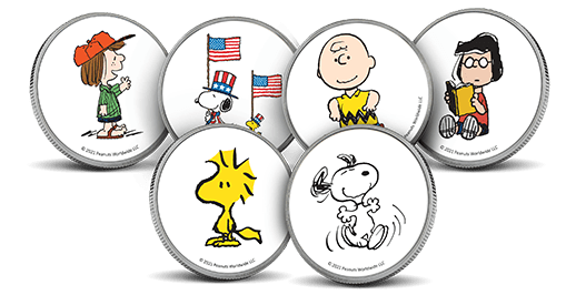 Peanuts Colorized Silver Rounds