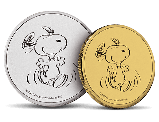Charlie Brown Gold & Silver Rounds