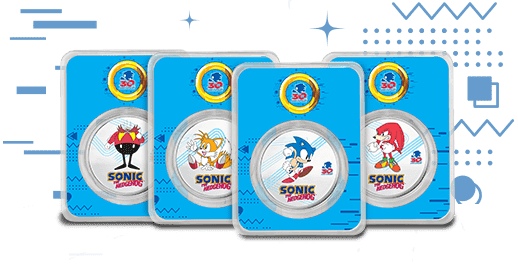 Sonic and His Friends in Colorized Silver TEP
