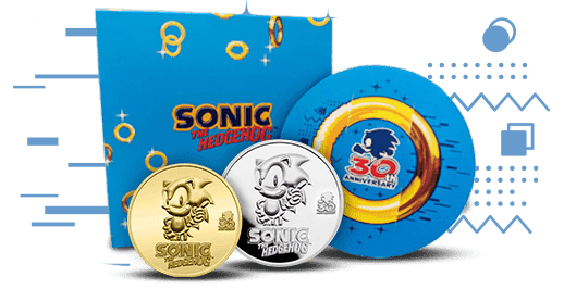 Gold BU & Silver Proof Sonic the Hedgehog Coins in Extremely Low Mintage