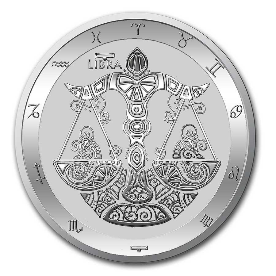 2021 Tokelau 1 oz Silver $5 Zodiac Series: Libra BU