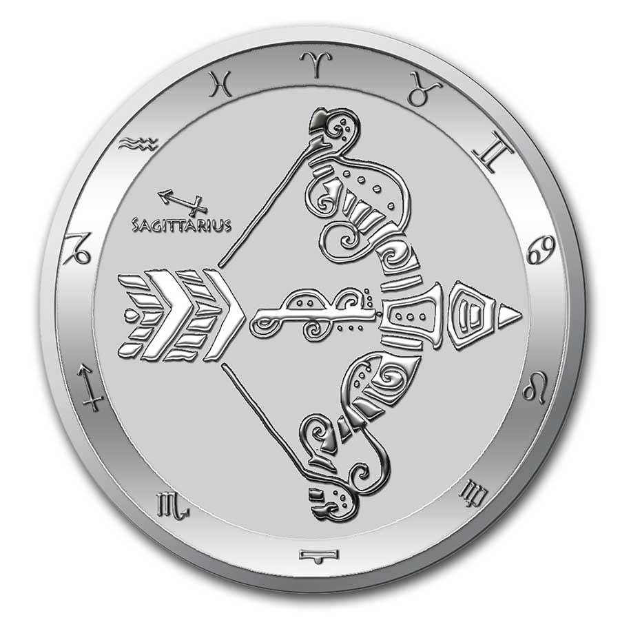 2021 Tokelau 1 oz Silver $5 Zodiac Series: Sagittarius BU