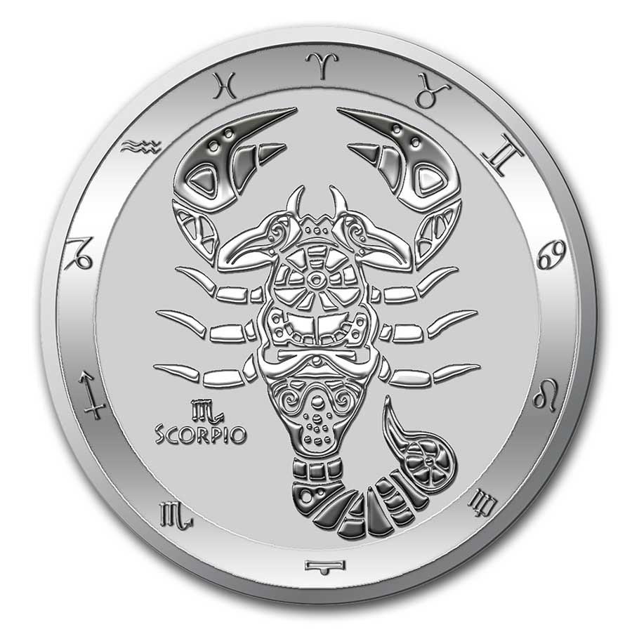 2021 Tokelau 1 oz Silver $5 Zodiac Series: Scorpio BU