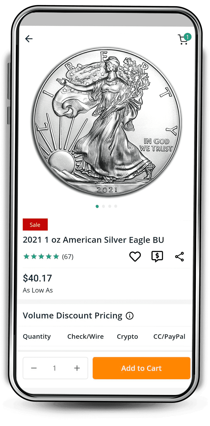APMEX App Product Page