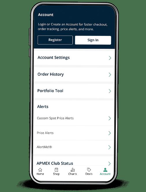 APMEX App My Account