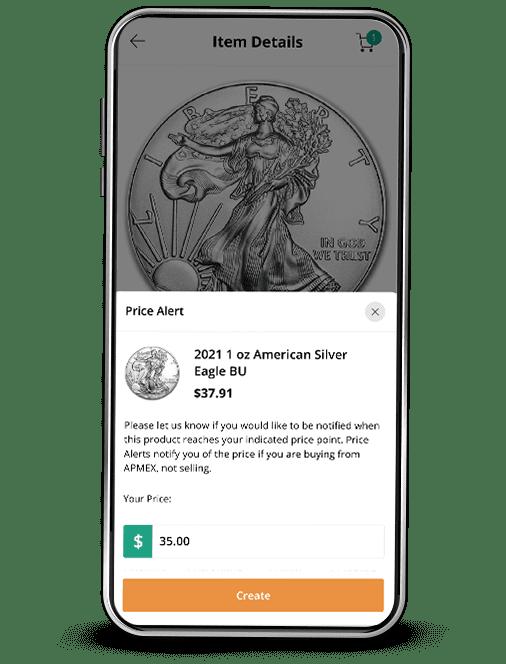 APMEX App Custom Alert