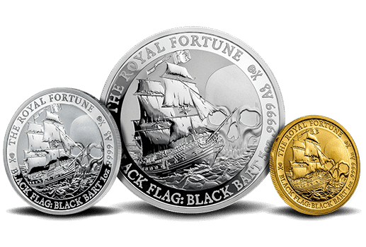 Black Flag Queen Anne's Revenge Gold and Silver Coins