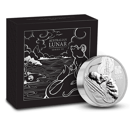 2020 Perth Mint 5 oz Proof Silver Lunar Year of the Mouse
