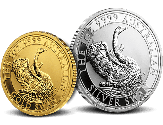 2019 Gold and Silver Swans