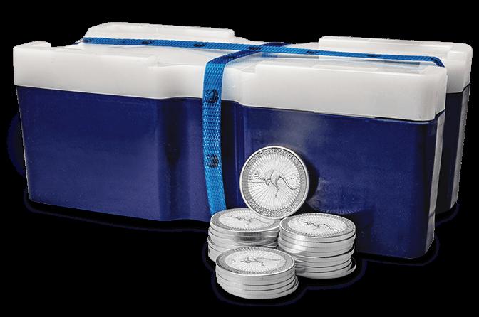 250-Coin Monster Box of Silver Kangaroos
