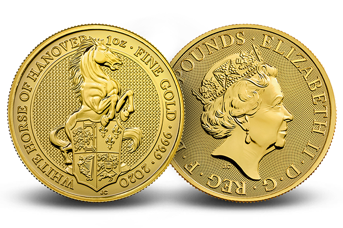 2020 Great Britain 1 oz Gold Queen's Beasts The White Horse
