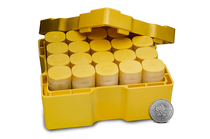 500-Coin Monster Box of Silver Maple Leafs