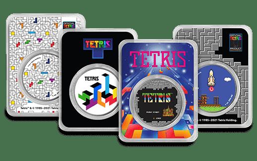 Tetris™ Colorized Silver Rounds
