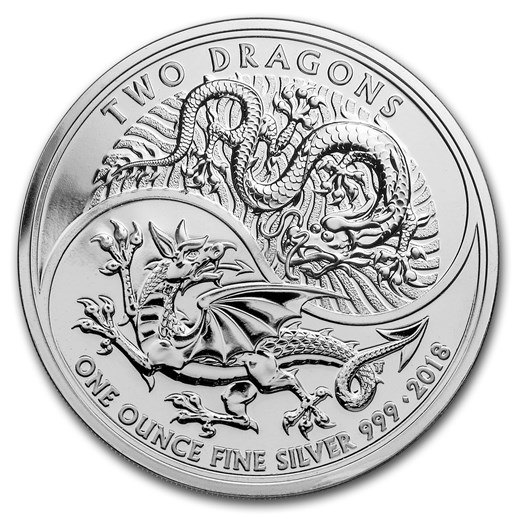 Two Dragons Silver Coin