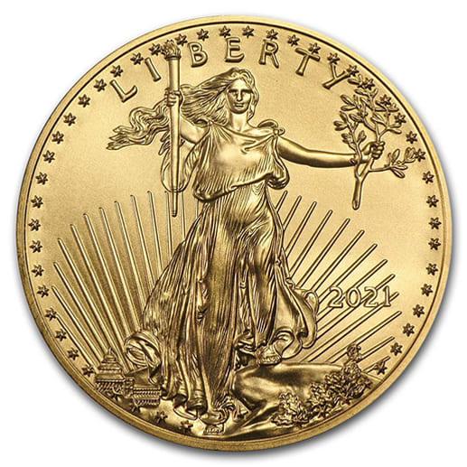 Gold American Eagle