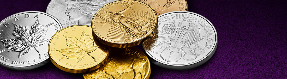 various bullion coins