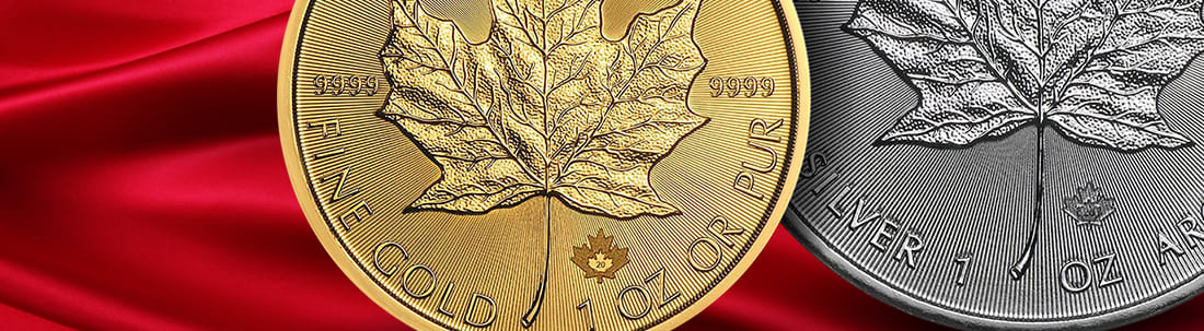 Canadian Maple Leaf coin mint mark