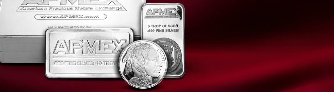 Silver bullion for purchase