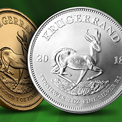 Shop 2018 South Africa Silver and Gold Krugerrand coins now at APMEX