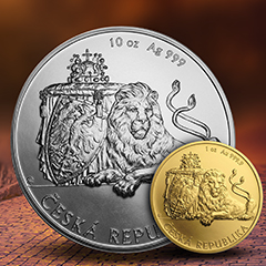 Gold and Silver Czech Lions Return to APMEX