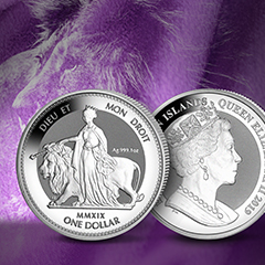 2019 Una and The Lion Coin Recreates Epic English Literature