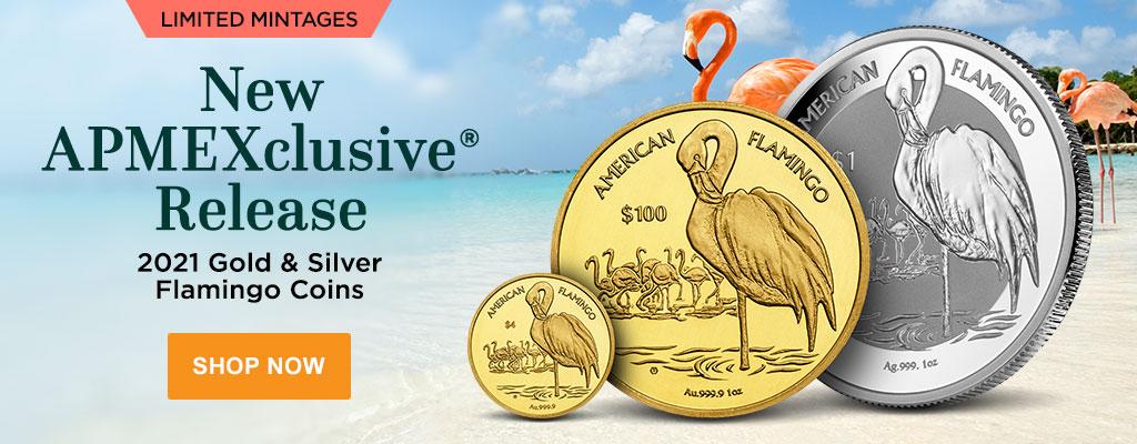 2021 Gold & Silver Flamingo Coins