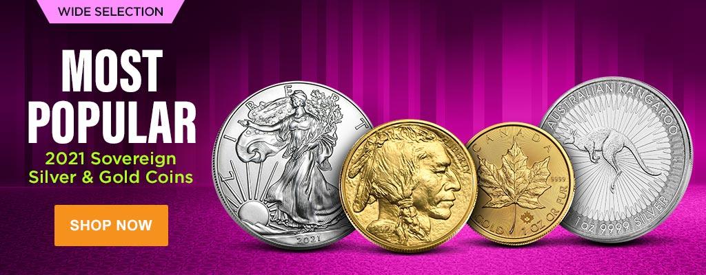 2021 Sovereign Silver & Gold Coins
