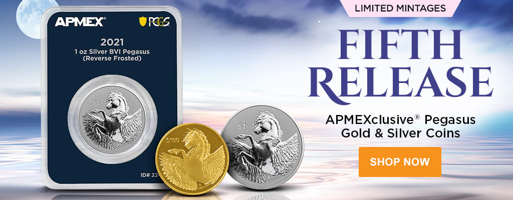 APMEXclusive® Pegasus Gold & Silver Coins