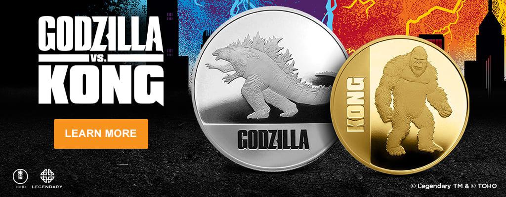 Godzilla vs. Kong Gold and Silver Coins