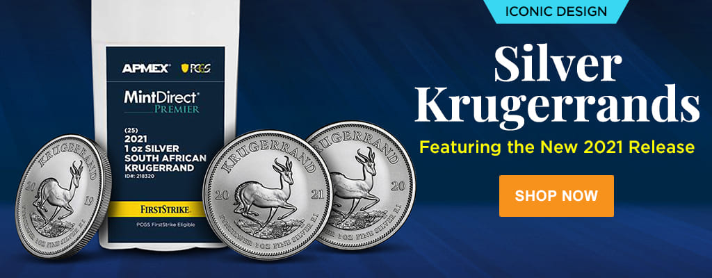 Silver Krugerrands feat. New 2021 Release