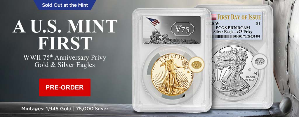 WWII 75th Anniversary Privy Gold & Silver Eagles