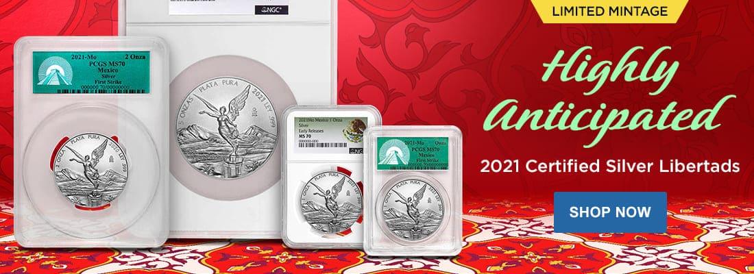 2021 Certified Silver Libertads
