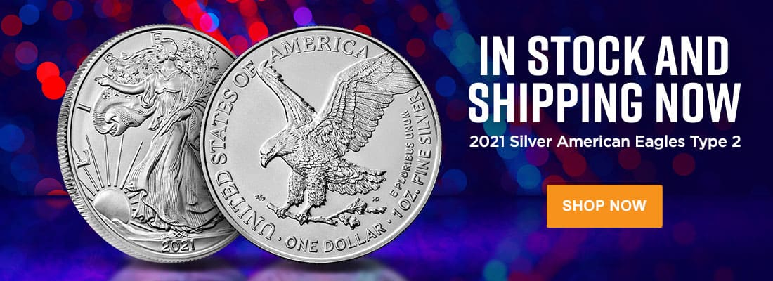 2021 Type 2 Silver Eagles