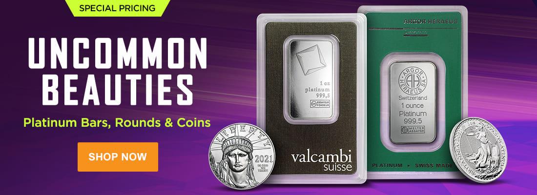 Platinum Bars, Rounds, & Coins