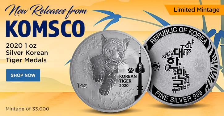 2020 1 oz Silver Korean Tiger Medals
