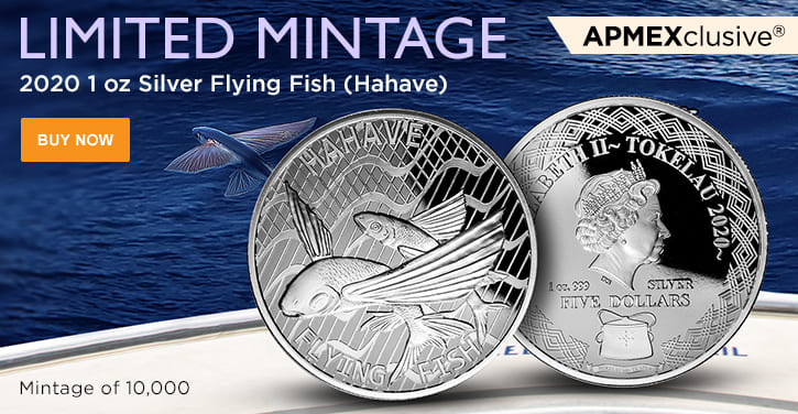 2020 1 oz Silver Flying Fish (Hahave)