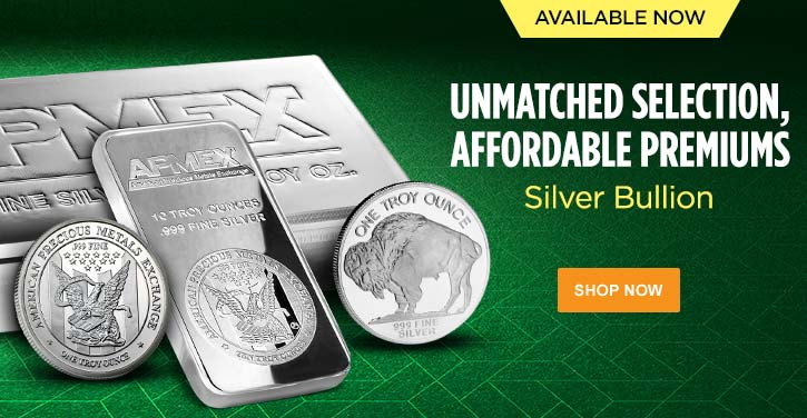 Select Silver Bullion Bars and Rounds