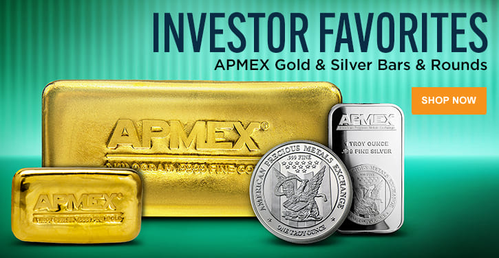 APMEX Gold & Silver Bars & Rounds