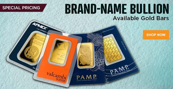 Brand-Name Bullion Gold Bars