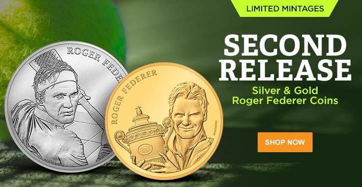 Silver & Gold Roger Federer Coins