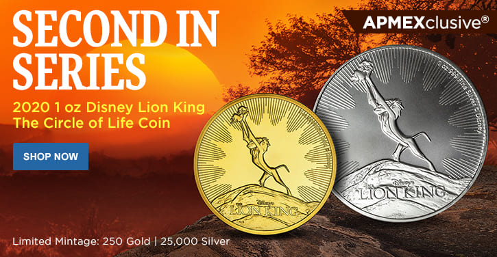 2020 1 oz Disney Lion King The Circle of Life Coin