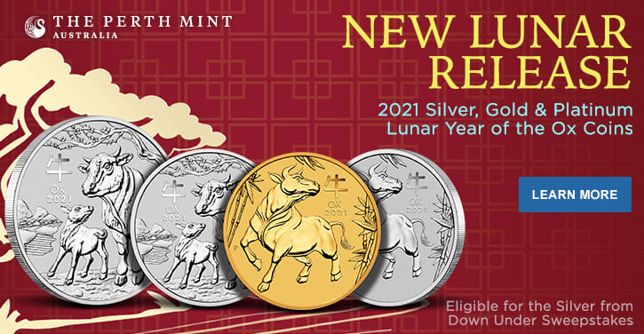 2021 Silver, Gold & Platinum Lunar Year of the Ox Coins