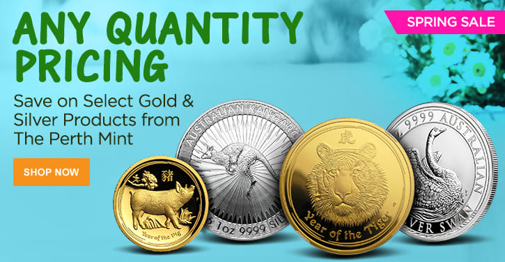 Spring Sale - Select Gold & Silver Products from The Perth Mint