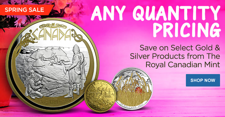 Spring Sale - Select Gold & Silver Products from RCM