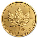 Royal Canadian Mint Maple Leaf Gold Coins (All)