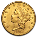 $20 Gold Liberty Double Eagle Coins (1850-1907)
